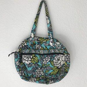 VERA BRADLEY DIAPER BAG PURSE WHITE GREEN BLUE